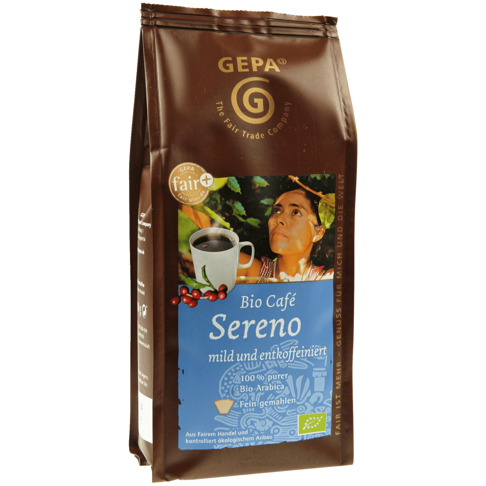 Gepa Bio Kaffee Sereno entkoffeiniert 250g