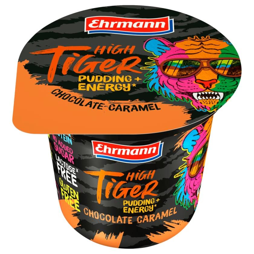 Ehrmann High Tiger Pudding+Energy Chocolate Caramel 200g
