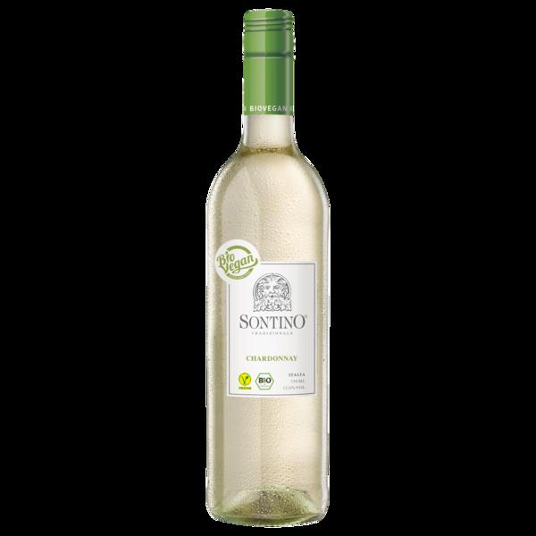 Sontino Weißwein Chardonnay Biowein Vegan halbtrocken 0,75l