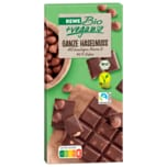 REWE Bio + vegan Schokolade Ganze Haselnuss 100g