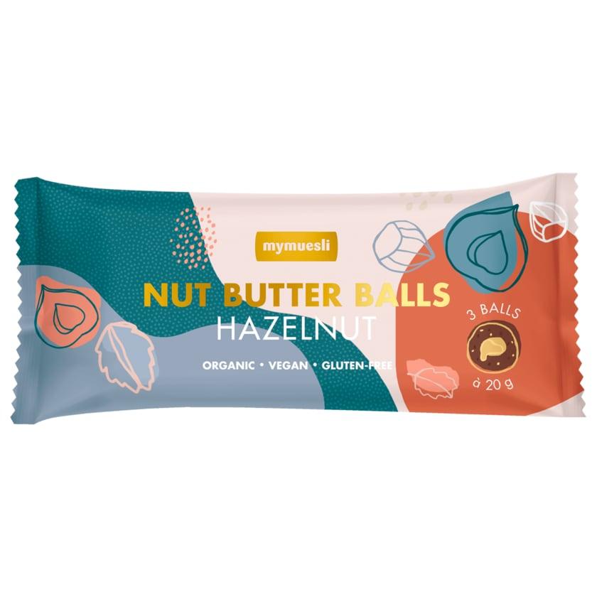 MyMuesli Bio Nut Butter Balls Haselnuss, vegan 60g