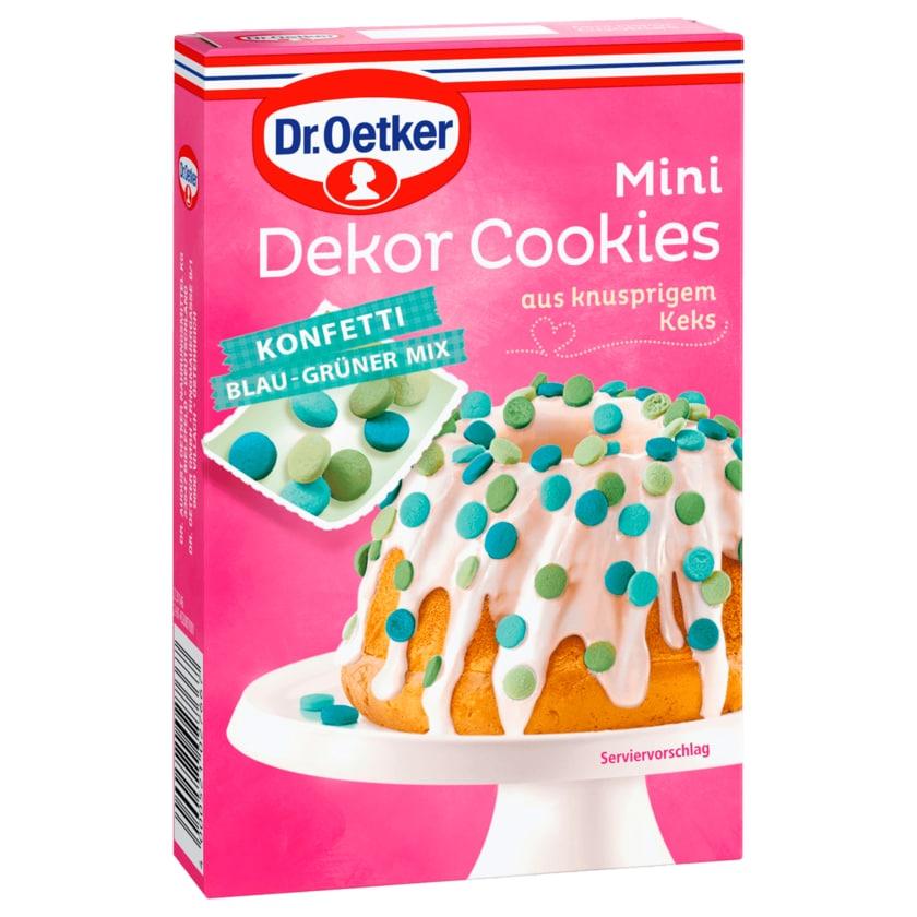 Dr. Oetker Mini Dekor Cookies Konfetti Blau-Grüner Mix 40g
