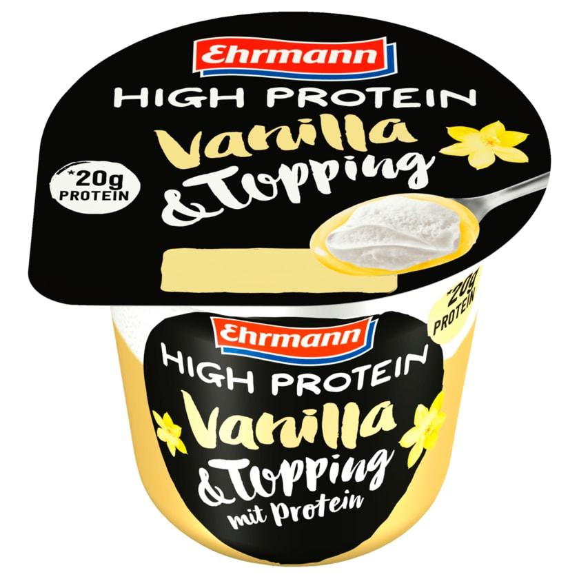 Ehrmann High Protein Vanilla & Topping 200g