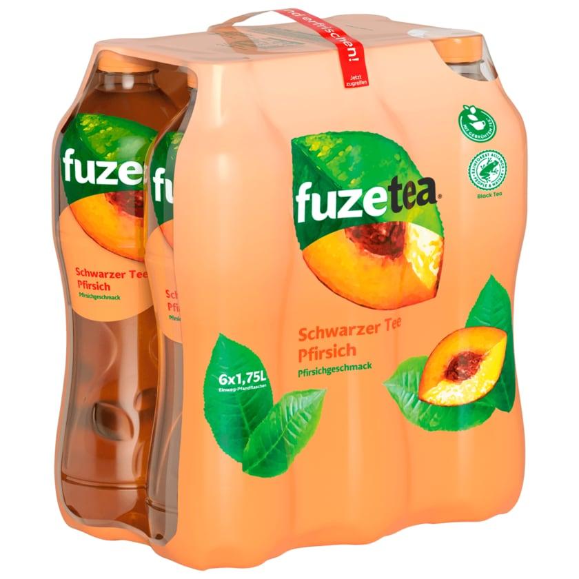 Fuze Tea Schwarzer Tee Pfirsich 6x1,75l
