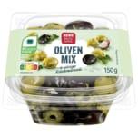 REWE Beste Wahl Olivenmix in würziger Kräutermarinade 150g