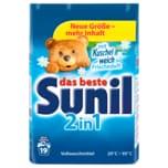 Sunil Vollwaschmittel Pulver 2in1 1,216kg, 19WL