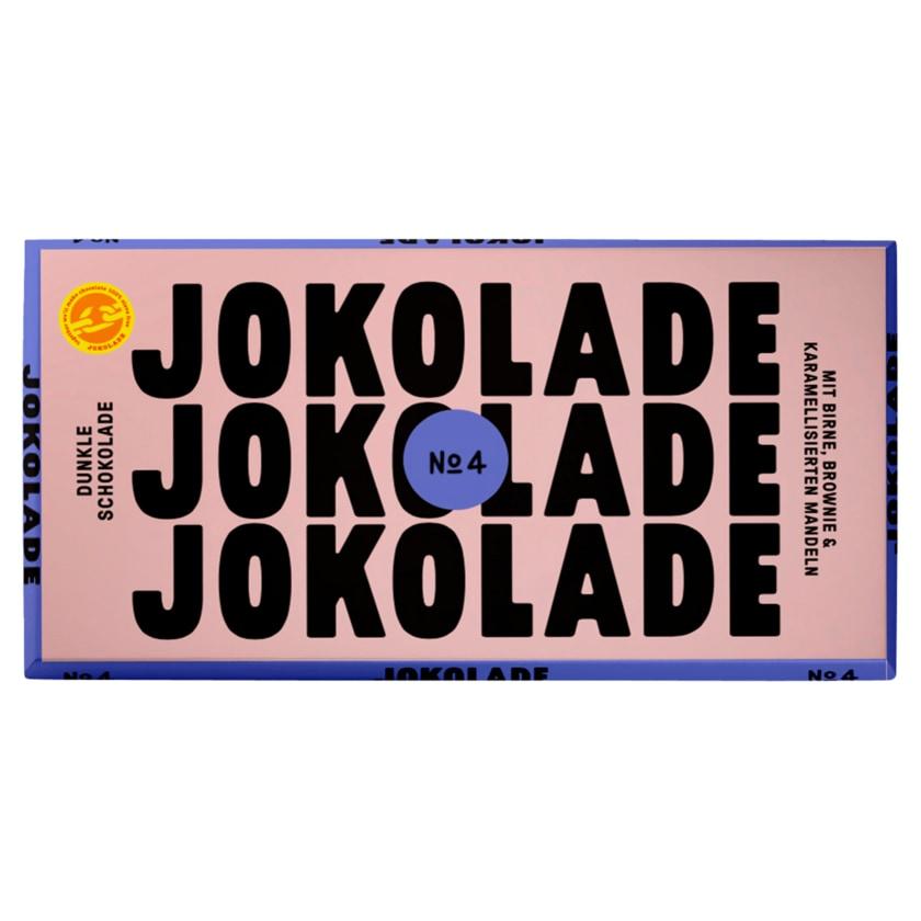 JOKOLADE No4 Dunkle Schokolade Birne, Brownie & Mandeln 150g