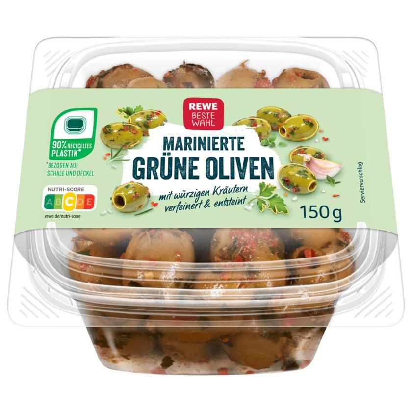 Rewe Beste Wahl marinierte Grüne Oliven 150g