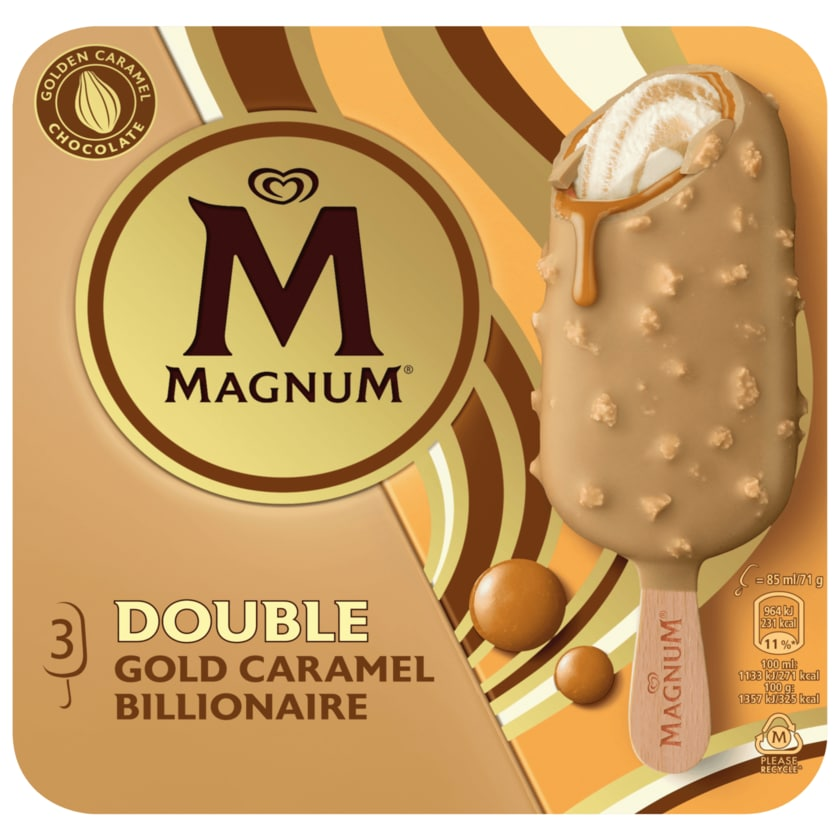 Magnum Double Gold Caramel Billionaire 3x85ml