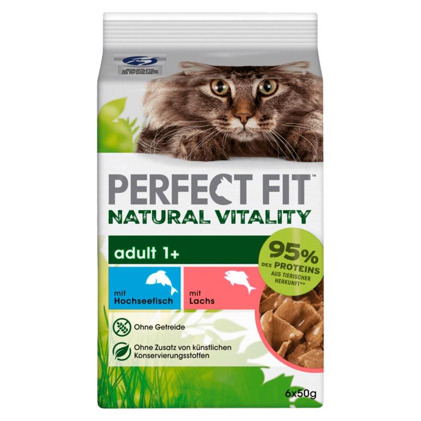 Perfect Fit Natural Vitality Adult 1+ mit Hochseefisch und Lachs 6x50g