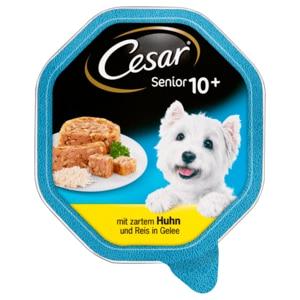 Cesar Hundefutter Vital 10+ Mit Huhn & Reis in Gelee 150g