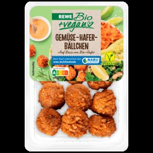 REWE Bio +vegan Gemüse-Hafer-Bällchen 220g