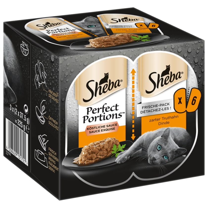 Sheba Perfect Portions Truthahn Dinde 225g