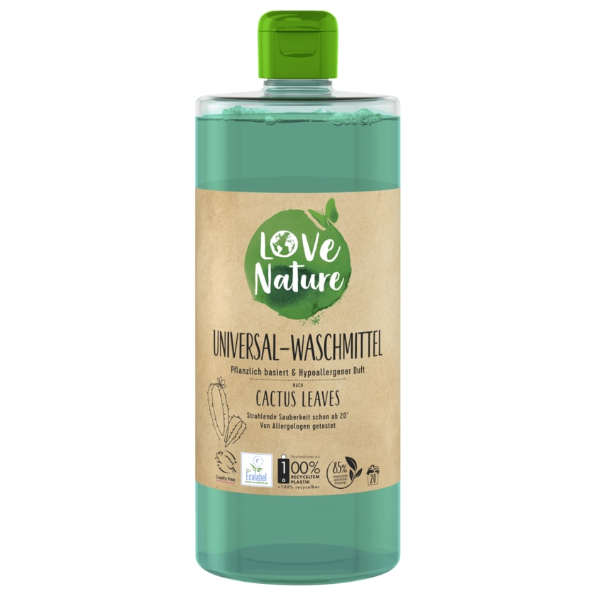 Love Nature Universal-Waschmittel Cactus Leaves 960ml, 20WL