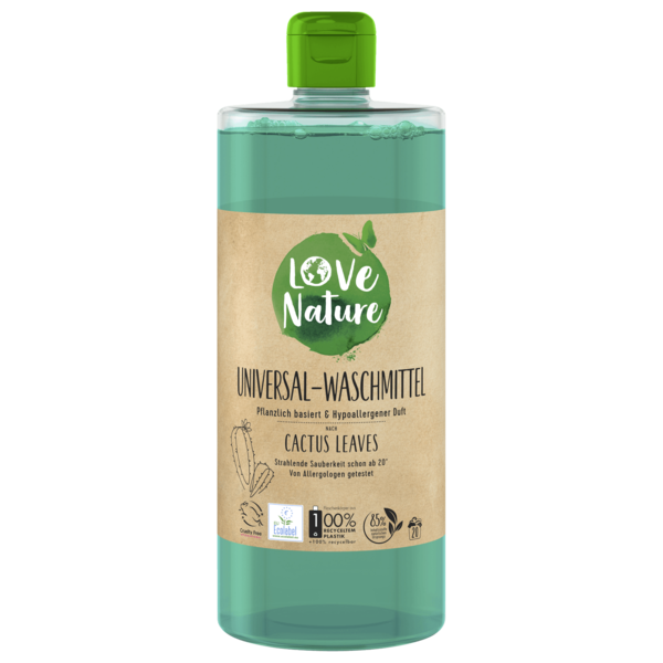 Love Nature Universal-Waschmittel Cactus Leaves 960ml, 20WL