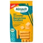 Alnavit Frei von Bio Bergkäse Grissini 100g