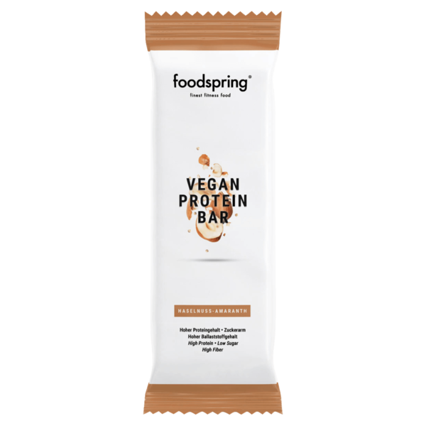 Foodspring Vegan Protein Bar Haselnuss-Amaranth 60g