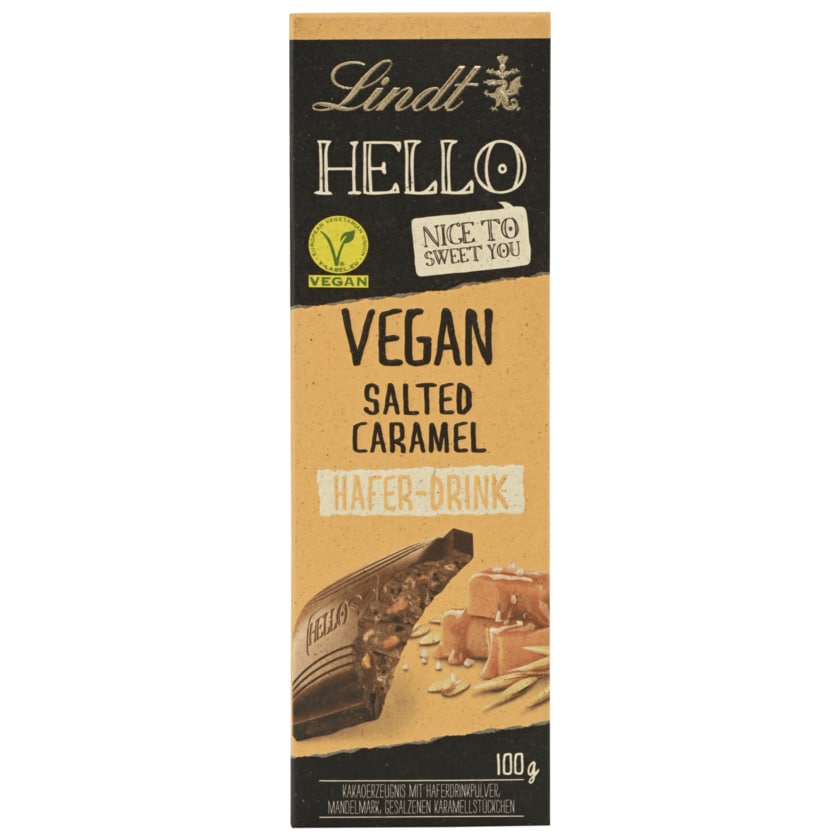 Lindt Hello Schokolade Vegan Salted Caramel 100g