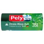 Pely Klimaneutral Müllbeutel Zitrone-Minze-Duft 35l, 12 Stück