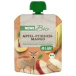 REWE Bio Quetschie Apfel-Pfirsich-Mango 90g