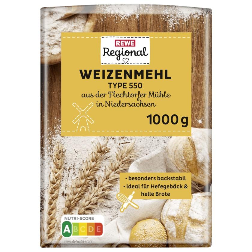 REWE Regional Weizenmehl Typ 550 1kg