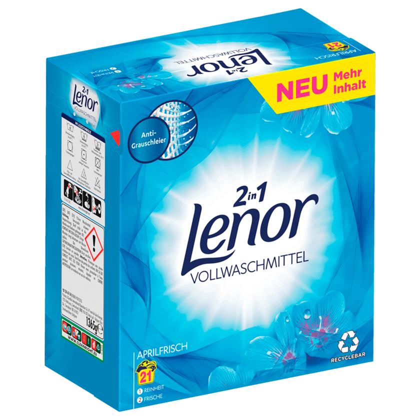 Lenor Vollwaschmittel Pulver Aprilfrisch 1,36kg 21WL