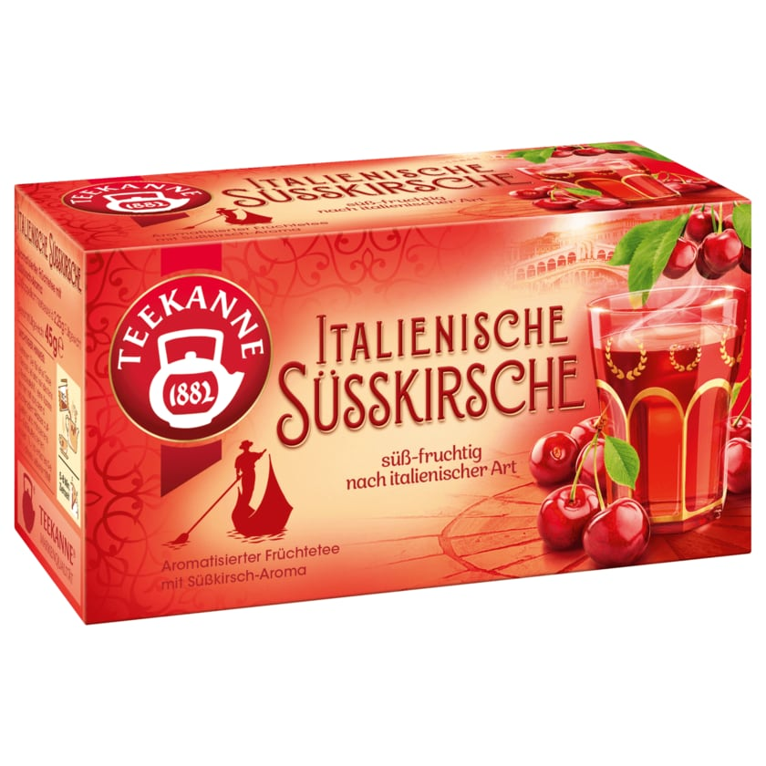 Teekanne Italienische Süsskirsche 45g, 20 Beutel