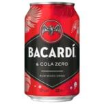 Bacardi Cola Zero 0,33l