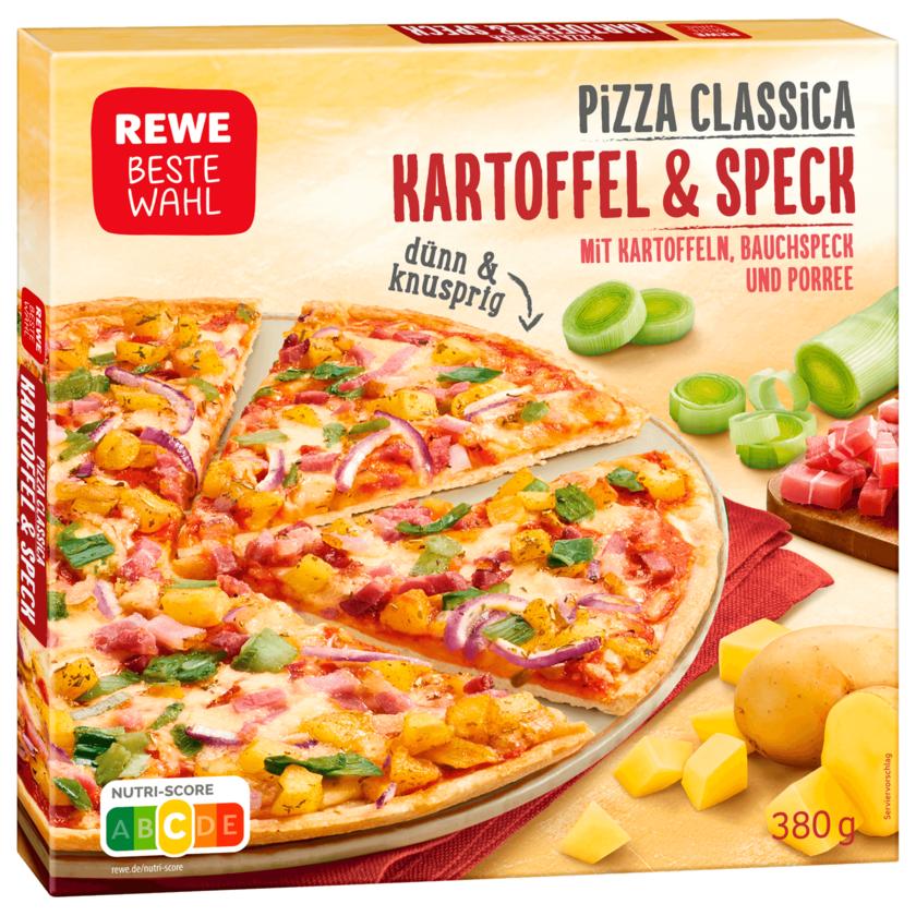 REWE Beste Wahl Pizza Classica Kartoffel & Speck 380g