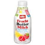 Müller Fruchtbuttermilch Sommer Himbeere-Zitrone 500g