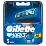 Gillette Mach3 Turbo 3D Klingen 5 Stück