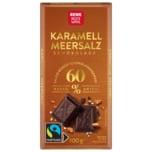 REWE Beste Wahl Karamell Meersalz Schokolade 100g