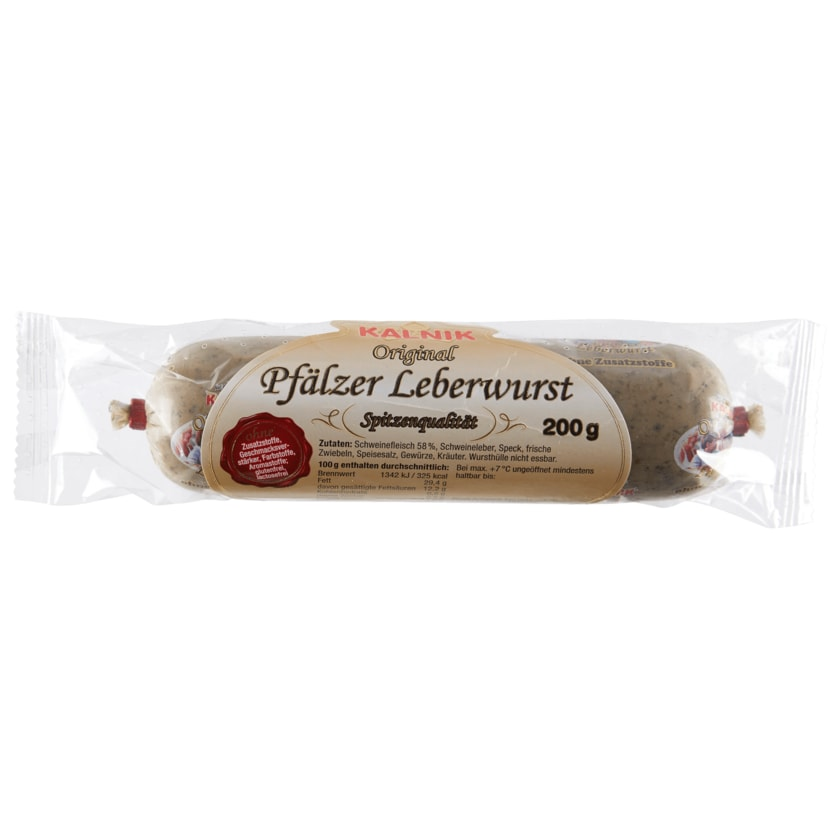 Kalnik Original Pfälzer Leberwurst 200g