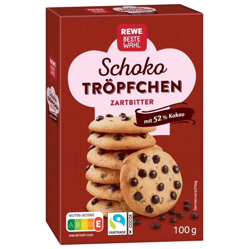 REWE Beste Wahl Schoko Tröpchen Zartbitter 100g