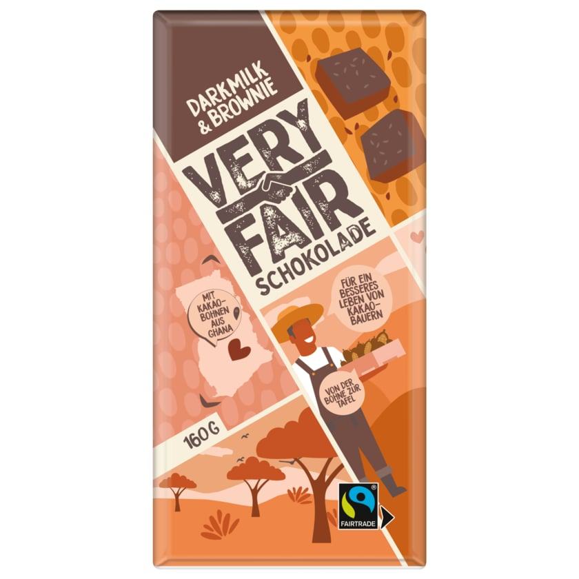 Very Fair Dark Milk & Brownie Schokolade 160g