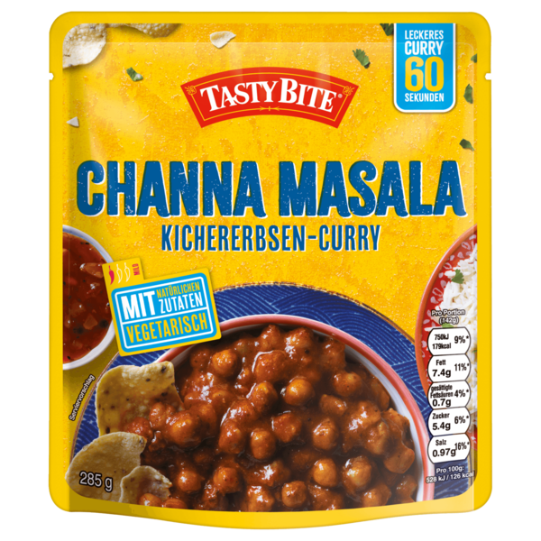Tasty Bite Channa Masala Kichererbsen-Curry 285g