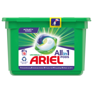 Ariel Vollwaschmittel Pods All-in-1 495g, 16WL