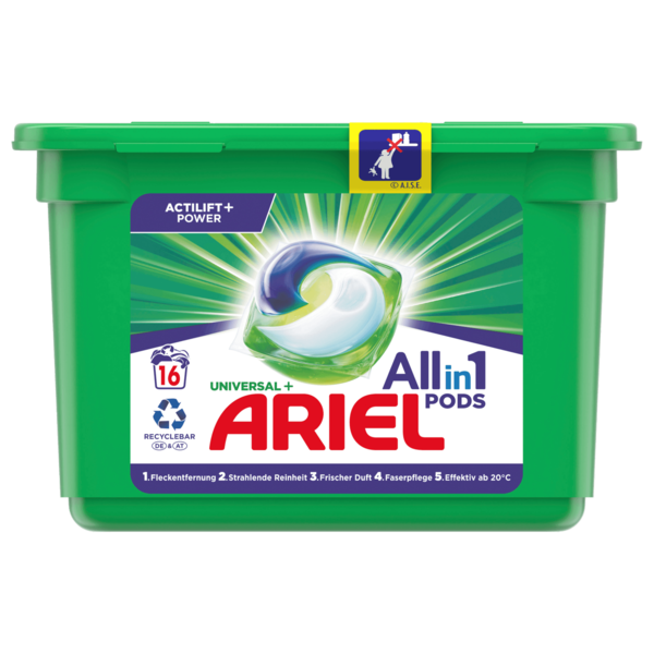 Ariel Vollwaschmittel Pods All-in-1 495g, 16WL