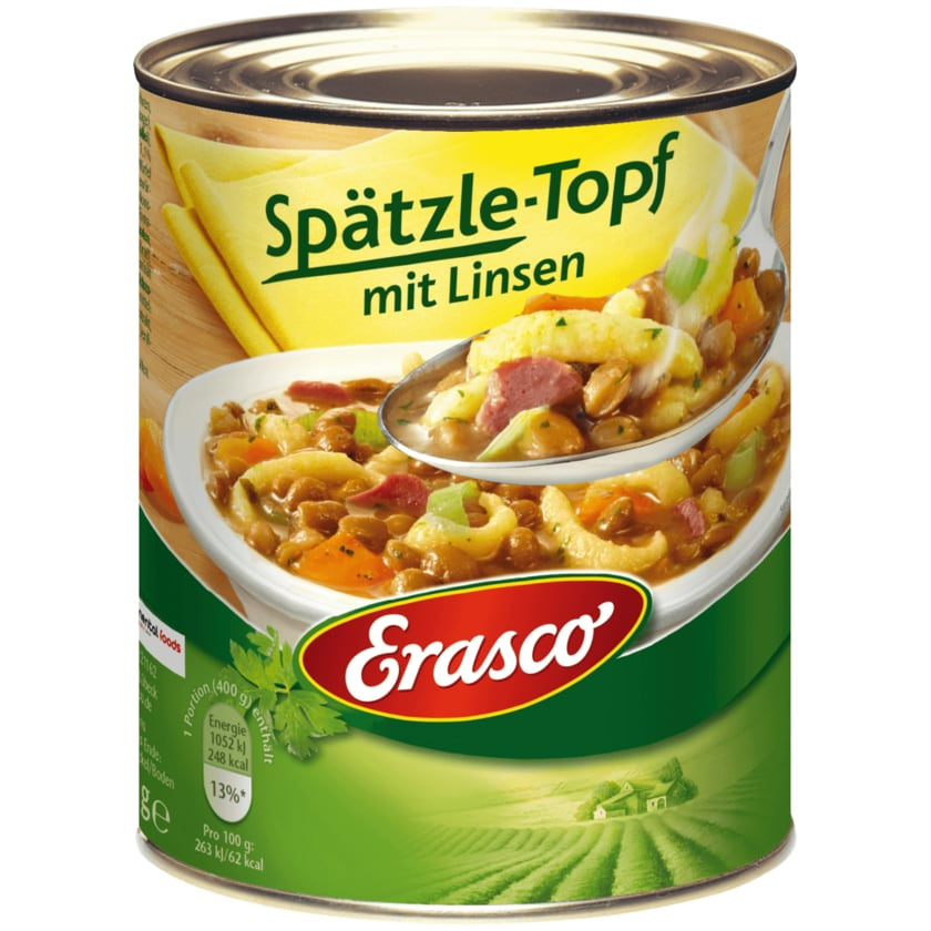 Erasco Spätzletopf mit Linsen 800g