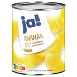 ja! Ananas in Scheiben leicht gezuckert 340g