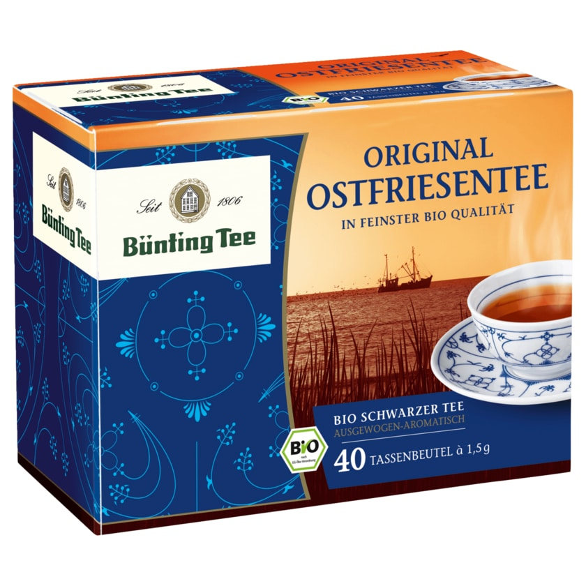Bünting Tee Original Ostfriesentee Bio 60g, 40 Beutel