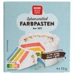 REWE Beste Wahl Lebensmittel Farbpasten in rot, grün, gelb & blau 4x10g
