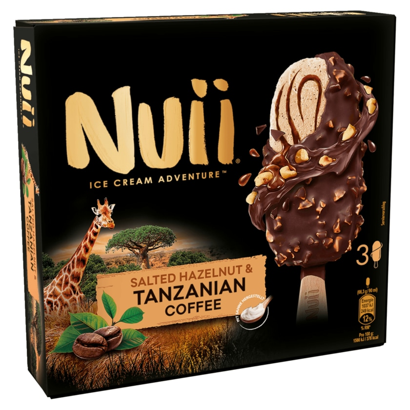 Nuii Salted Hazelnut & Tanzanian Coffee 3x90ml