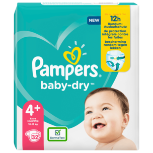 Pampers Baby Dry Gr.4+ 10-15kg 32 Stück