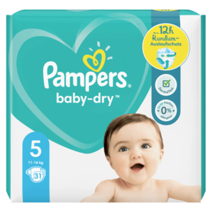 Pampers Baby Dry Gr.5 11-16kg 31 Stück