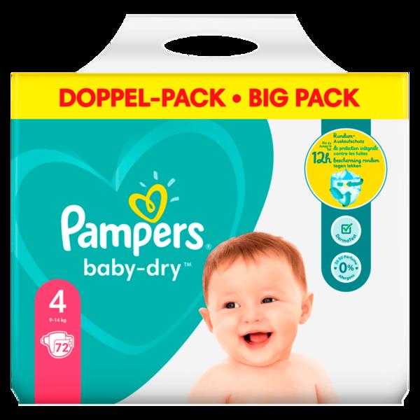 Pampers Baby Dry Gr.4 9-14kg Big Pack 72 Stück