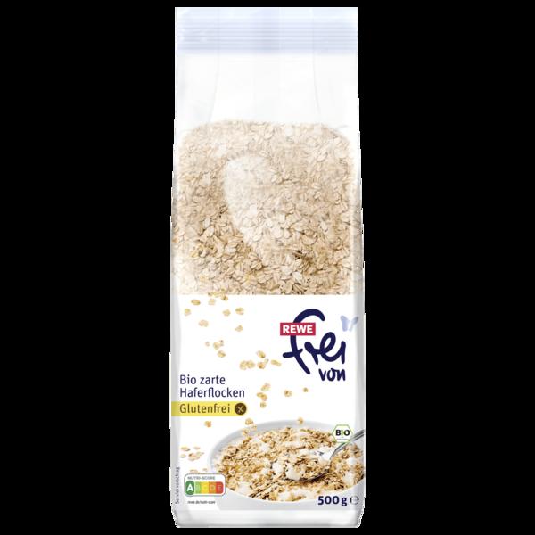 REWE Frei von Bio zarte Haferflocken Glutenfrei 500g