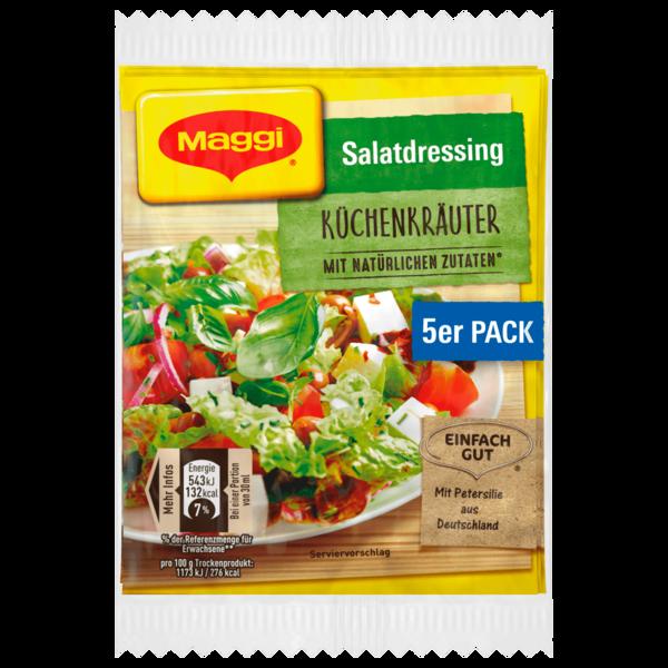 Maggi Salatdressing Küchenkräuter 40g, 5x8g