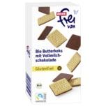 REWE Frei von Bio Butterkeks mit Vollmilchschokolade Bio 100g