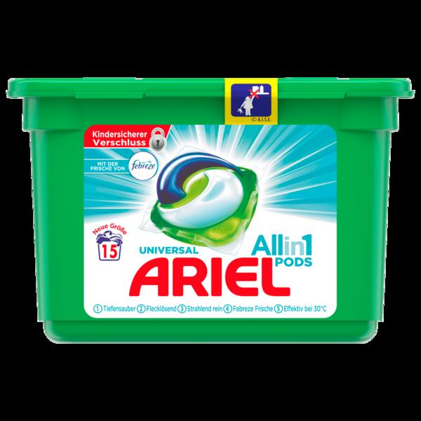 Ariel All in 1 Vollwaschmittel Pods Febreze 15 WL 450 g